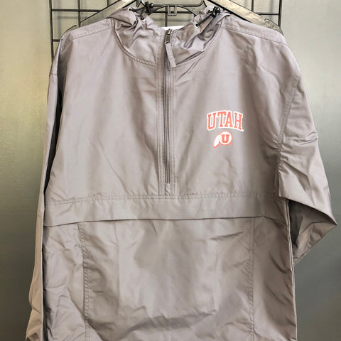 Utah Pack N Go Jacket Graphite - Utah Sports Collective