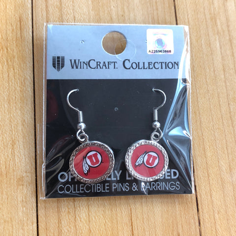 Utah Jewel Round Earrings - Utah Sports Collective