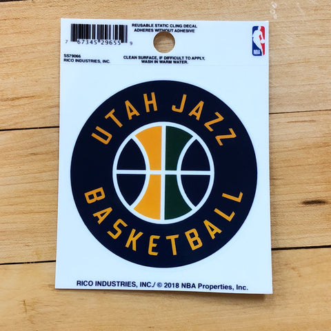 Jazz Small Static Cling - Utah Sports Collective