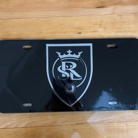 Real Salt Lake License Plate Insert Black - Utah Sports Collective