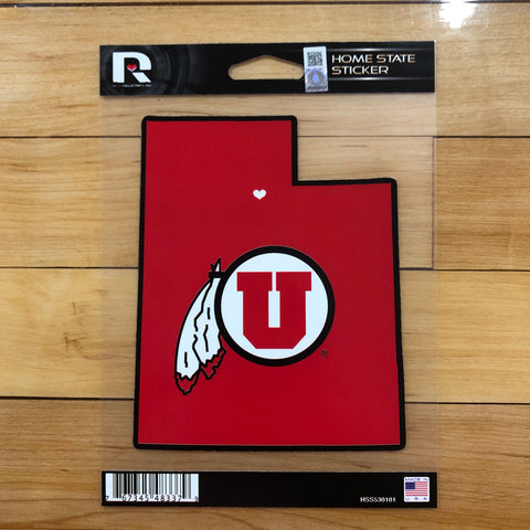 Utah Utes Home State Decal Sticker