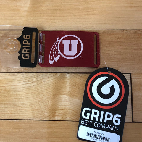 Utah Grip 6 Drum and Feather Red Buckle - Utah Sports Collective