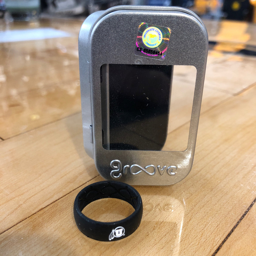 Utah Groove Black DF Silicone Ring - Utah Sports Collective