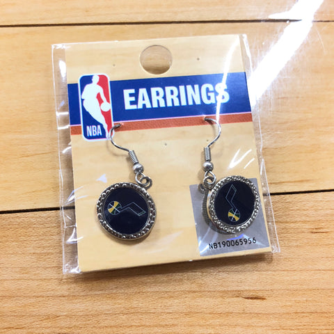 Jazz Round Jewel Earring - Utah Sports Collective