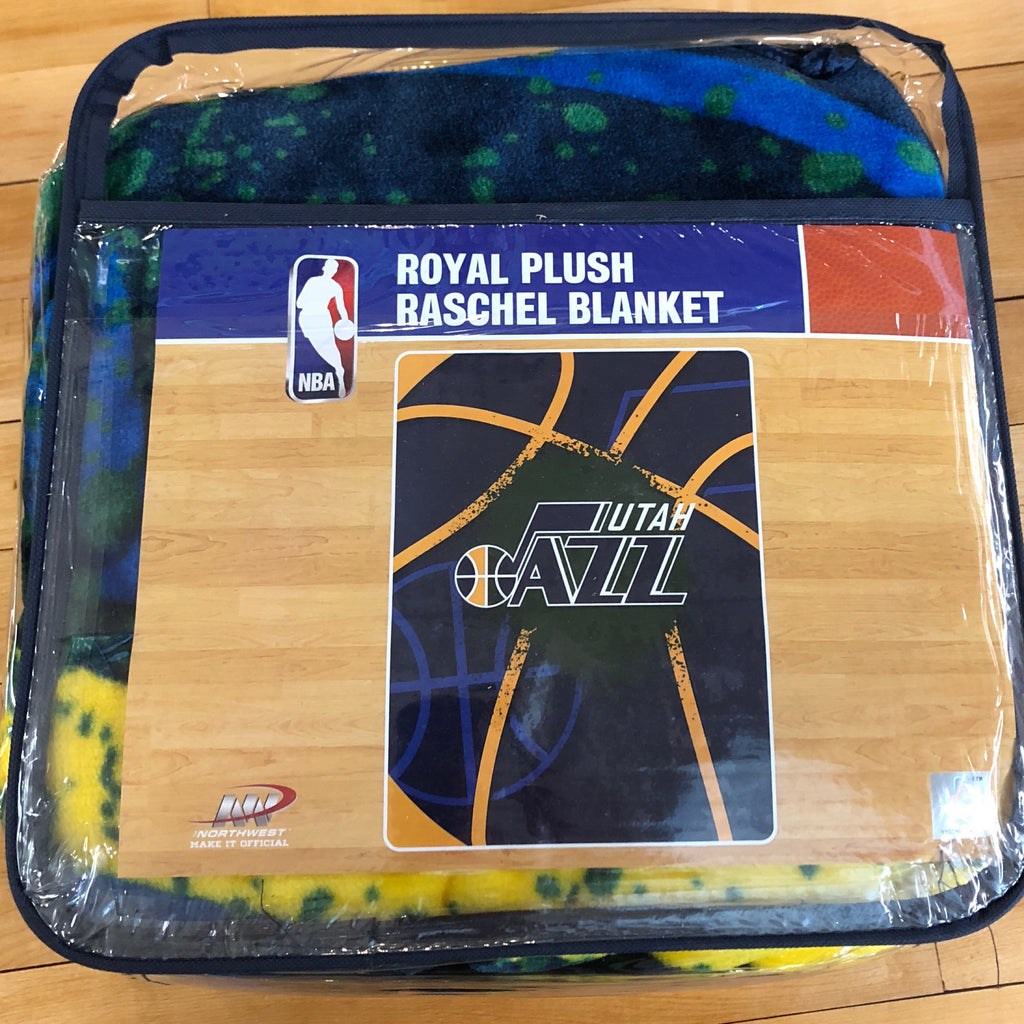 Jazz Plush Raschel Blanket - Utah Sports Collective