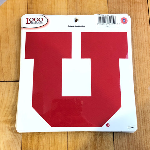 Utah Logo Red Block U Decal 5""