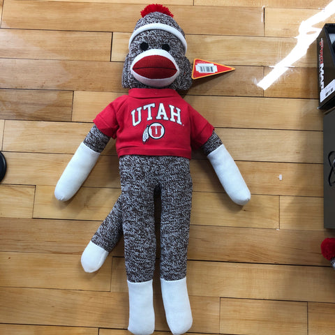 "Utah Drum and Feather 22"" Sock Monkey - Utah Sports Collective"