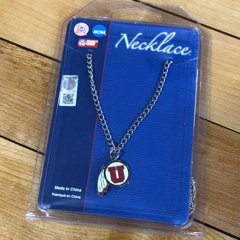 Utah Necklace With Chain DF - Utah Sports Collective