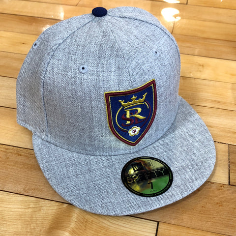 RSL New Era 5950 hat heather shield fitted - Utah Sports Collective