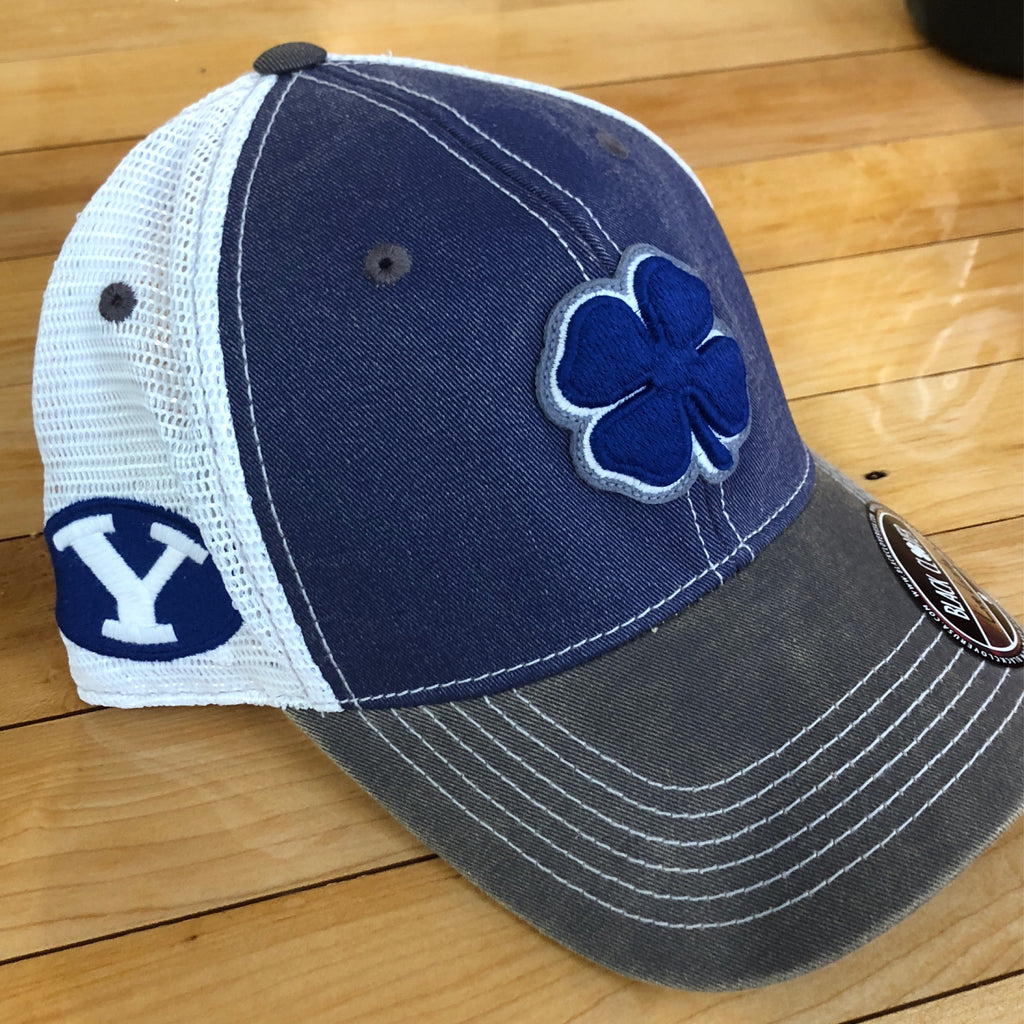 BYU Black Clover hat 2T Vintage flexfit - Utah Sports Collective
