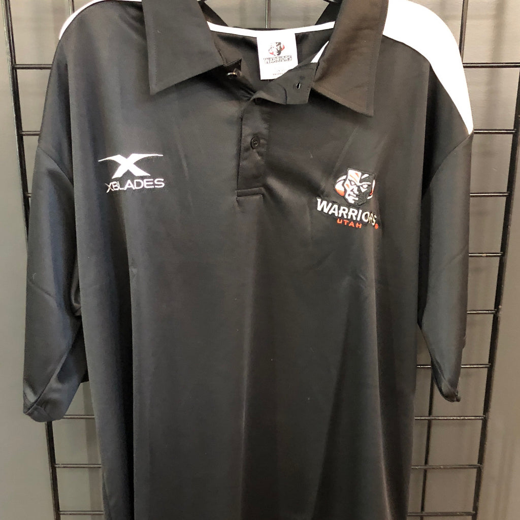 Warriors Men's Polo Black - Utah Sports Collective