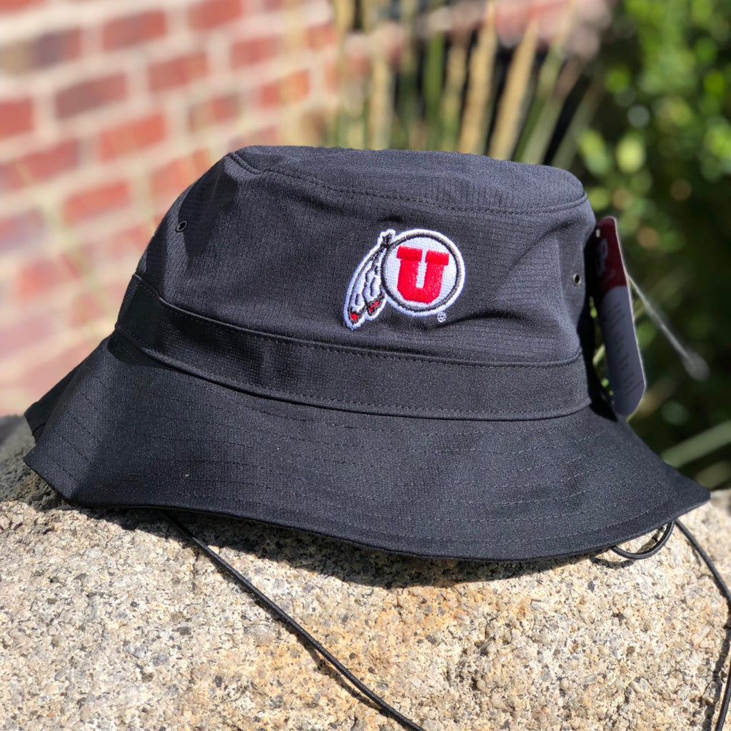 Utah Utes Under Armour Black Sideline Coolswitch Bucket Hat