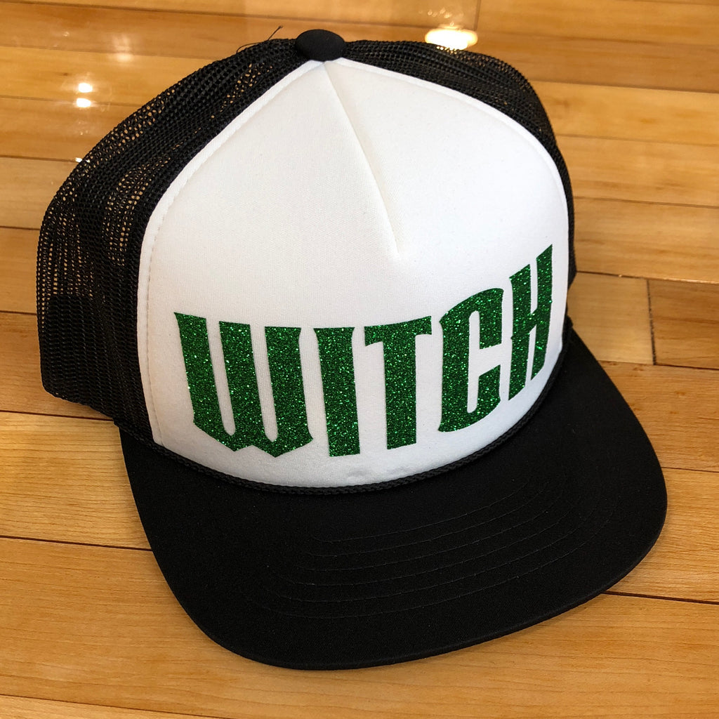 Witch Foamie Trucker Green Glitter - Utah Sports Collective