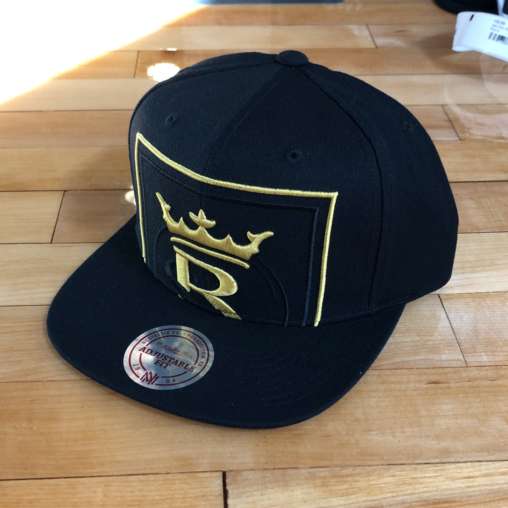 RSL Mitchell and ness hat black Cropped XL Logo SnapBack - Utah Sports Collective