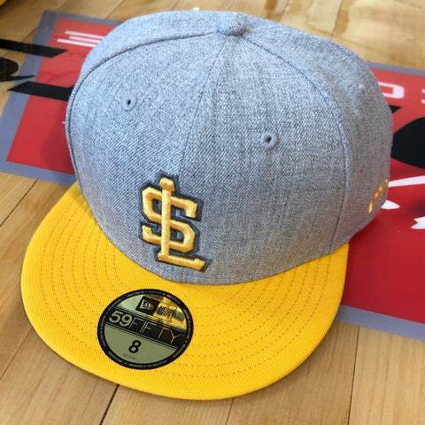 Bees new era 5950 SL Yellow/gry - Utah Sports Collective