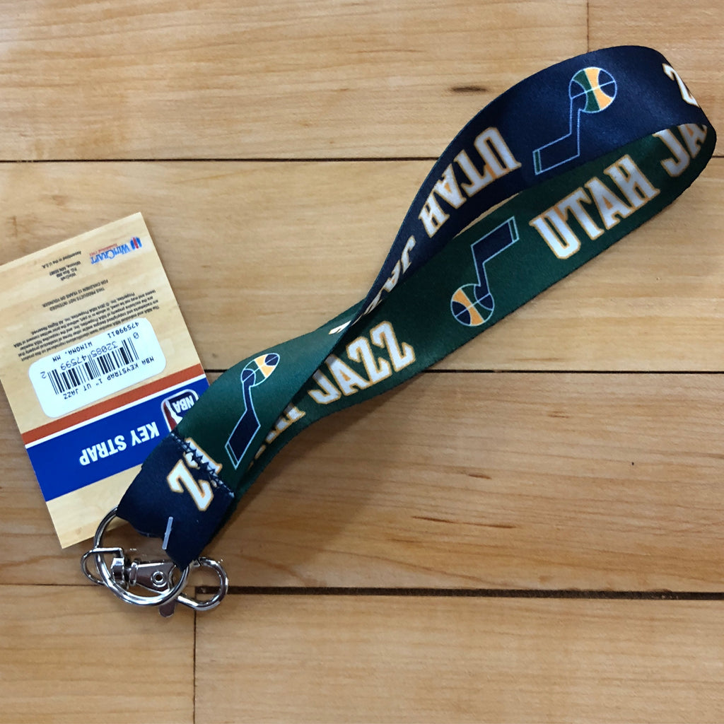 "Jazz 1"" Blue/Green Keystrap - Utah Sports Collective"