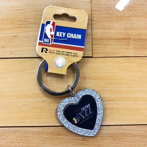 Rico Industries NCAA Fan Shop Metal Rhinestone Heart Keychain