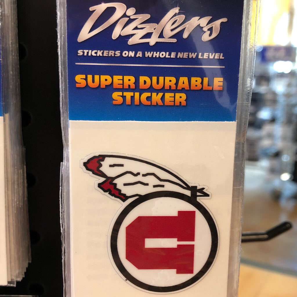 "Utah Drum and Feather Dizzler 2"" sticker - Utah Sports Collective"