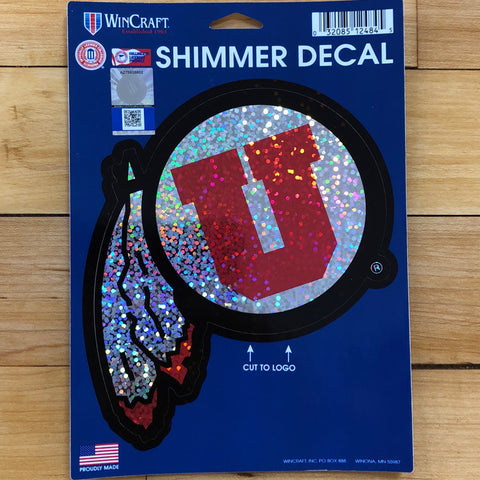 Utah Shimmer Decal - Utah Sports Collective