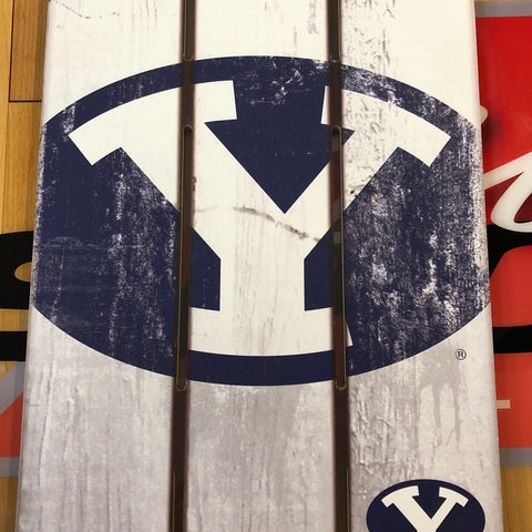 BYU Wood Fence Sign - Utah Sports Collective