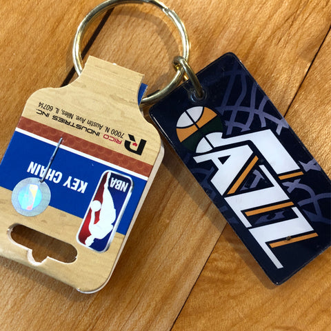 Jazz Crystal View Keychain - Utah Sports Collective