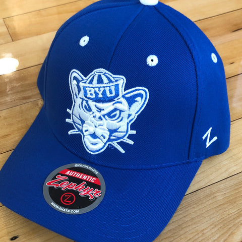 BYU Zephyr hat Royal Cosmo SnapBack - Utah Sports Collective