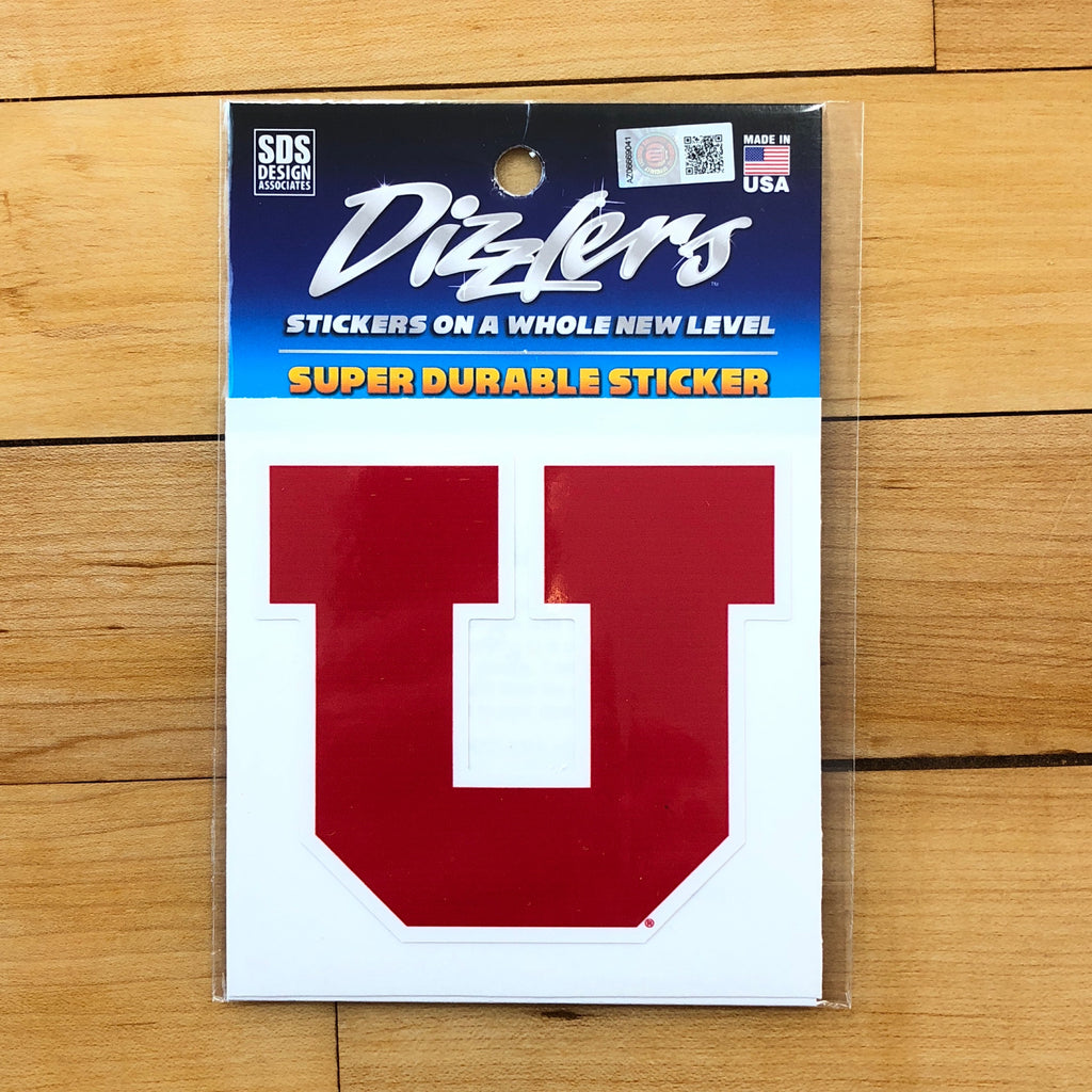 "Utah Block U Dizzler 3"" - Utah Sports Collective"