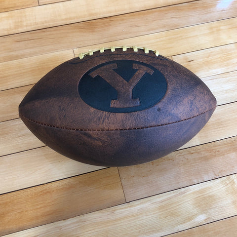 BYU Full Size Vintage Leather Football - Utah Sports Collective