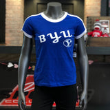 BYU Girl's Blue White Tee - Utah Sports Collective