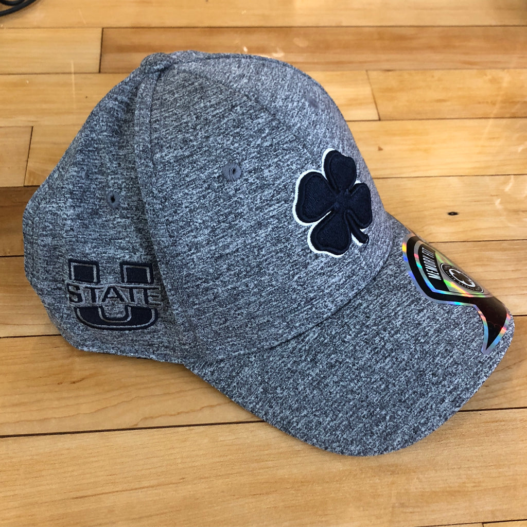 USU Black Clover Hat Heather flexfit - Utah Sports Collective