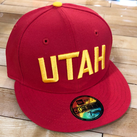 Jazz New Era 5950 hat red City Front Door fitted - Utah Sports Collective