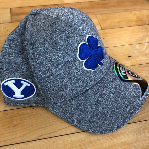 BYU Black Clover hat heather flexfit - Utah Sports Collective
