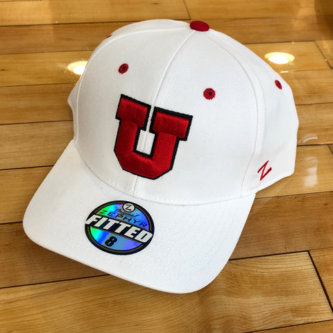 Utah Block U White - Utah Sports Collective