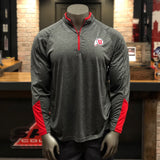 Utah Colosseum Grey Striped Drum and Feather 1/4 Zip Pullover - Utah Sports Collective
