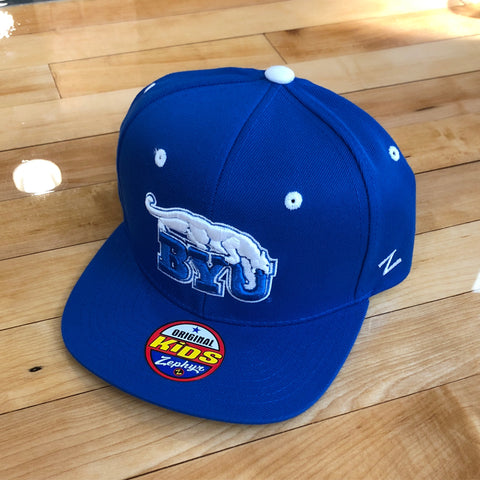 BYU Zephyr hat Youth Royal BYU snapback - Utah Sports Collective
