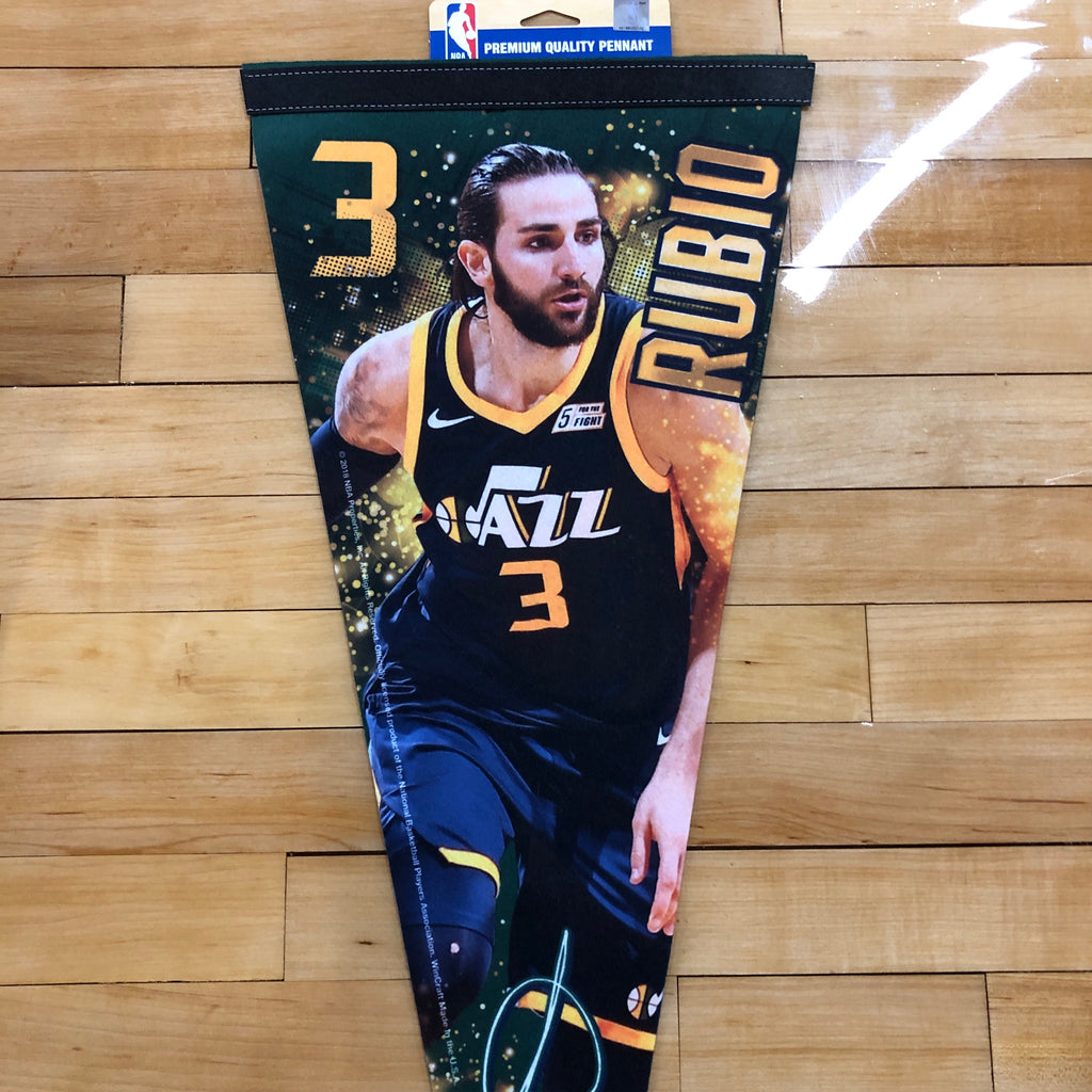 Jazz Ricky Rubio Felt Pennant - Utah Sports Collective