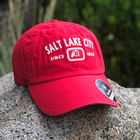 Utah Top Of The World Intellect Red Salt Lake City Adjustable Hat