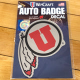 Utah Auto Badge Decal - Utah Sports Collective