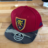 RSL adidas hat Red camo Snapback - Utah Sports Collective