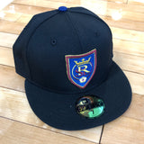 RSL New Era 5950 hat black shield fitted - Utah Sports Collective