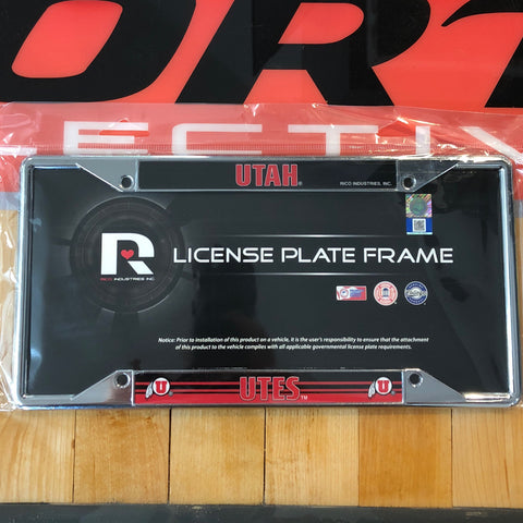 Utah Ez View Chrome License Plate Frame - Utah Sports Collective