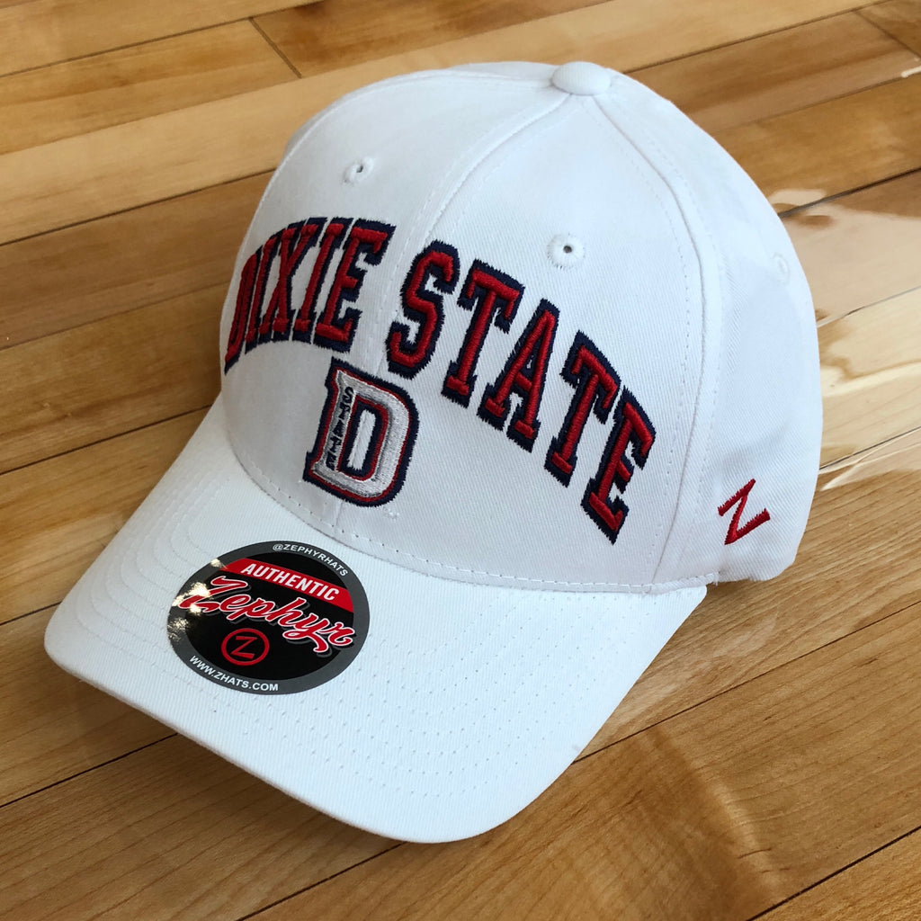 Dixie State Zephyr hat D white SnapBack - Utah Sports Collective