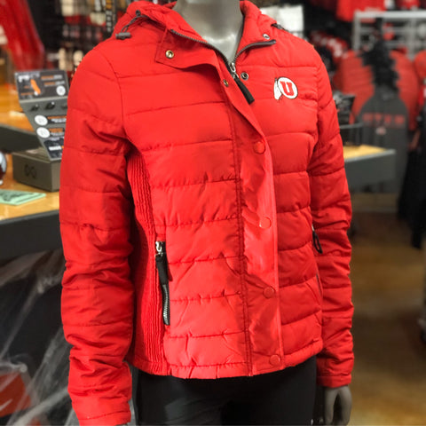 Utah Utes Colosseum Women's Red Skipper Puffer Jacket