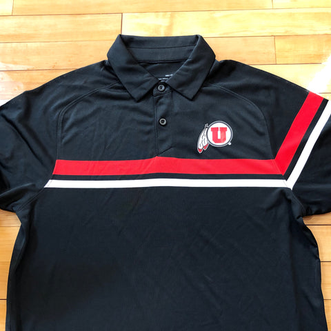 Utah Under Armour Men's Black Tour Drive Polo
