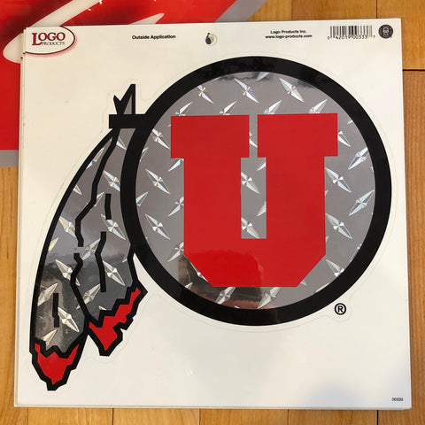 Utah Logo Steel DF Decal 9""
