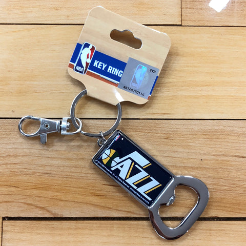 Jazz Bottle Opener Keychain - Utah Sports Collective