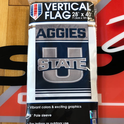 USU Vertical Flag 28x40 - Utah Sports Collective