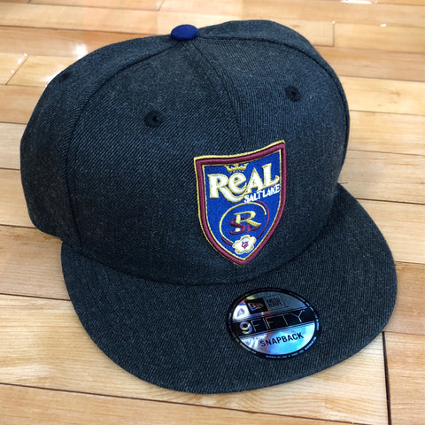 RSL New Era 950 hat heather black SnapBack - Utah Sports Collective