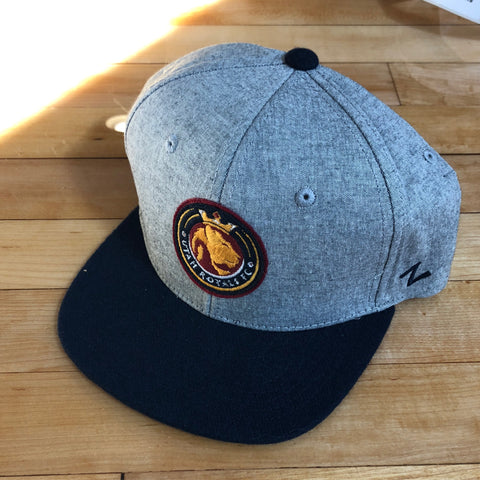 Royals Zephyr hat Youth Grey BLVD SnapBack - Utah Sports Collective