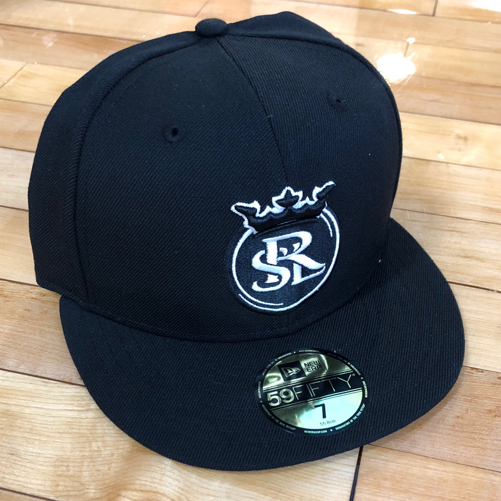RSL New Era 5950 hat black white fitted - Utah Sports Collective